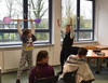 Theaterunterricht in Klassenstufe 6/7 der Förderschule Hiddinghausen.